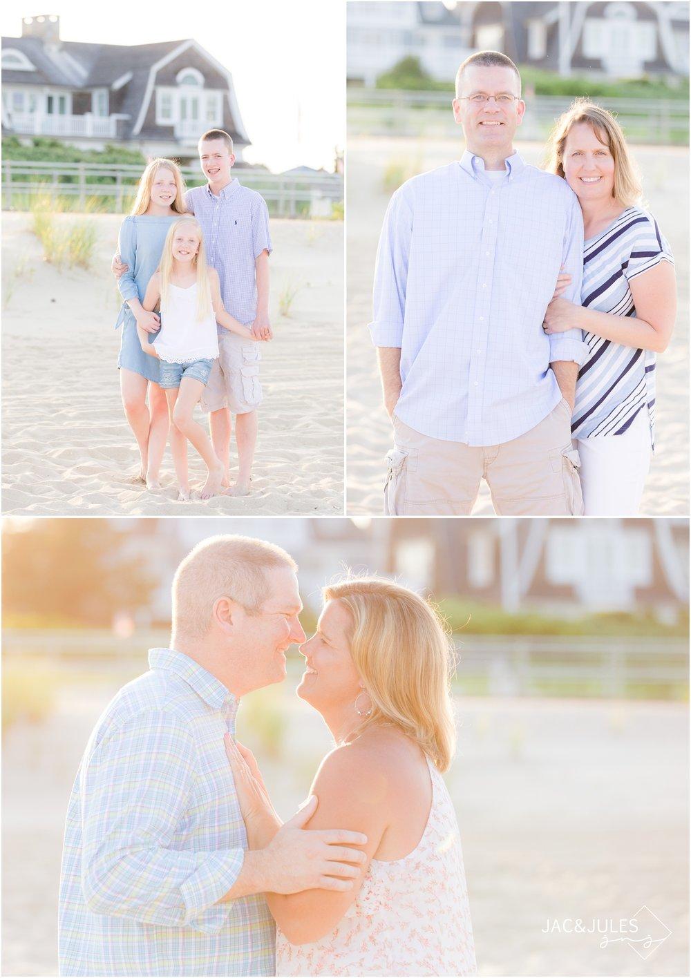 Pretty family photos on the beach in Sea Girt, NJ
