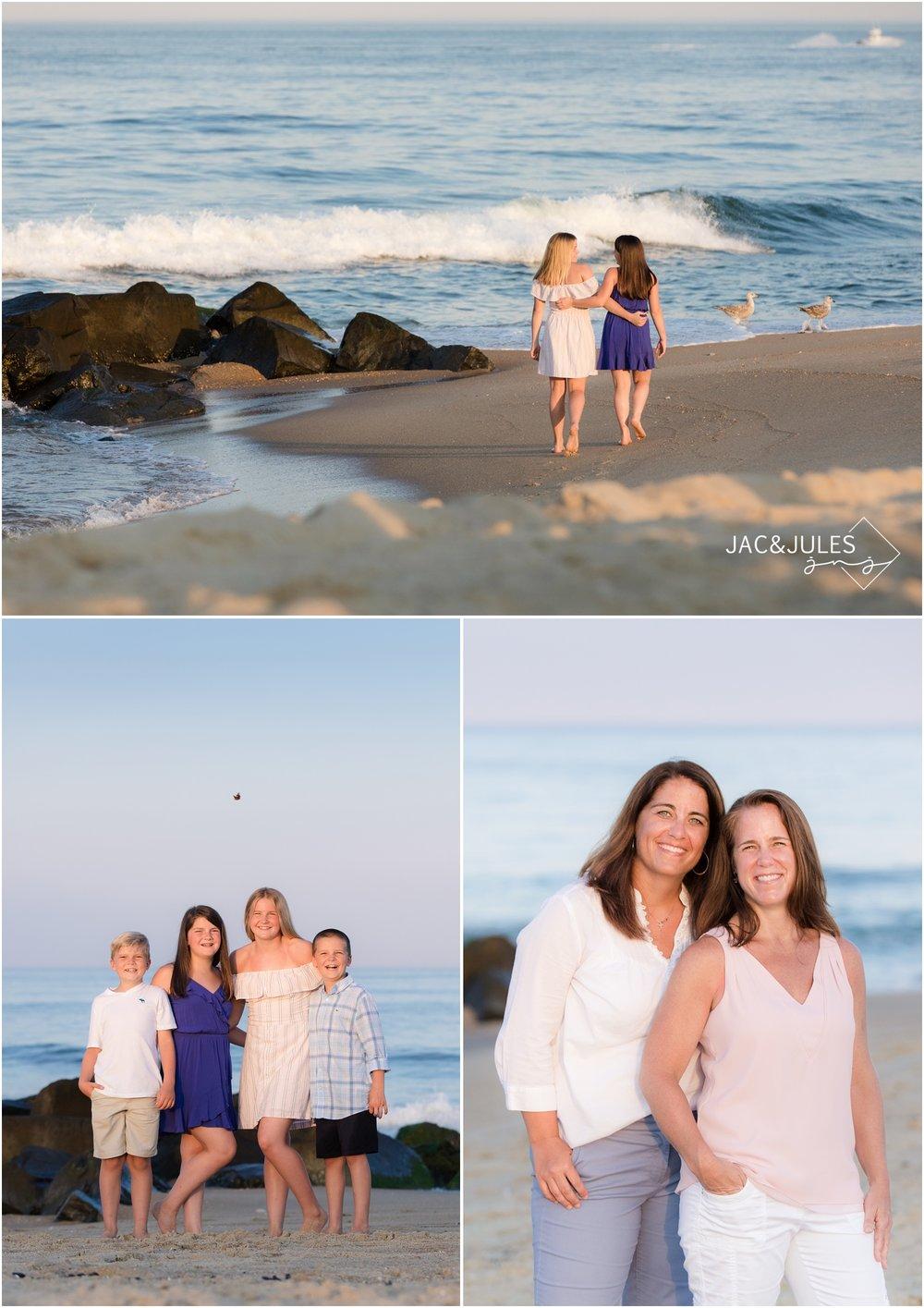 awesome family photos on the beach in Sea Girt, NJ