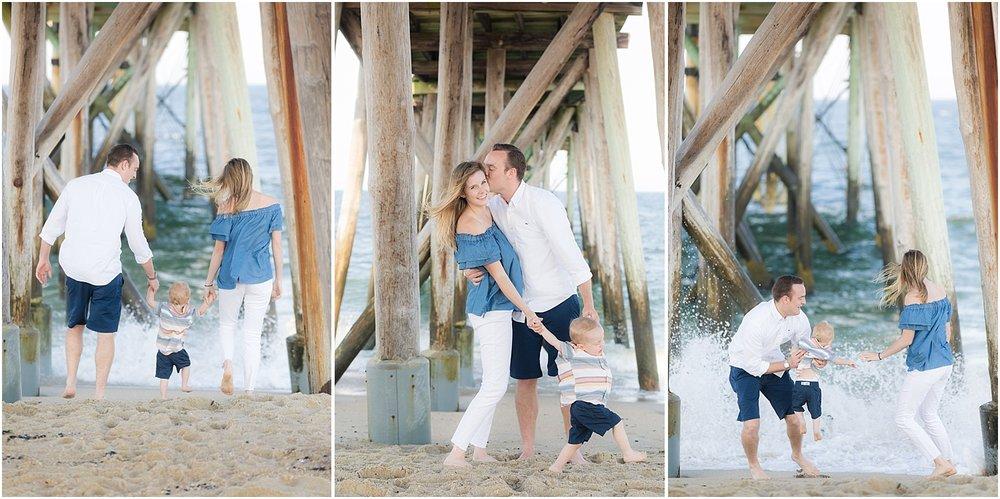 fun family photo on the beach in belmar nj