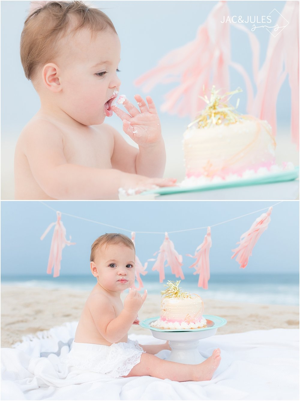 first birthday beach portraits in new jersey
