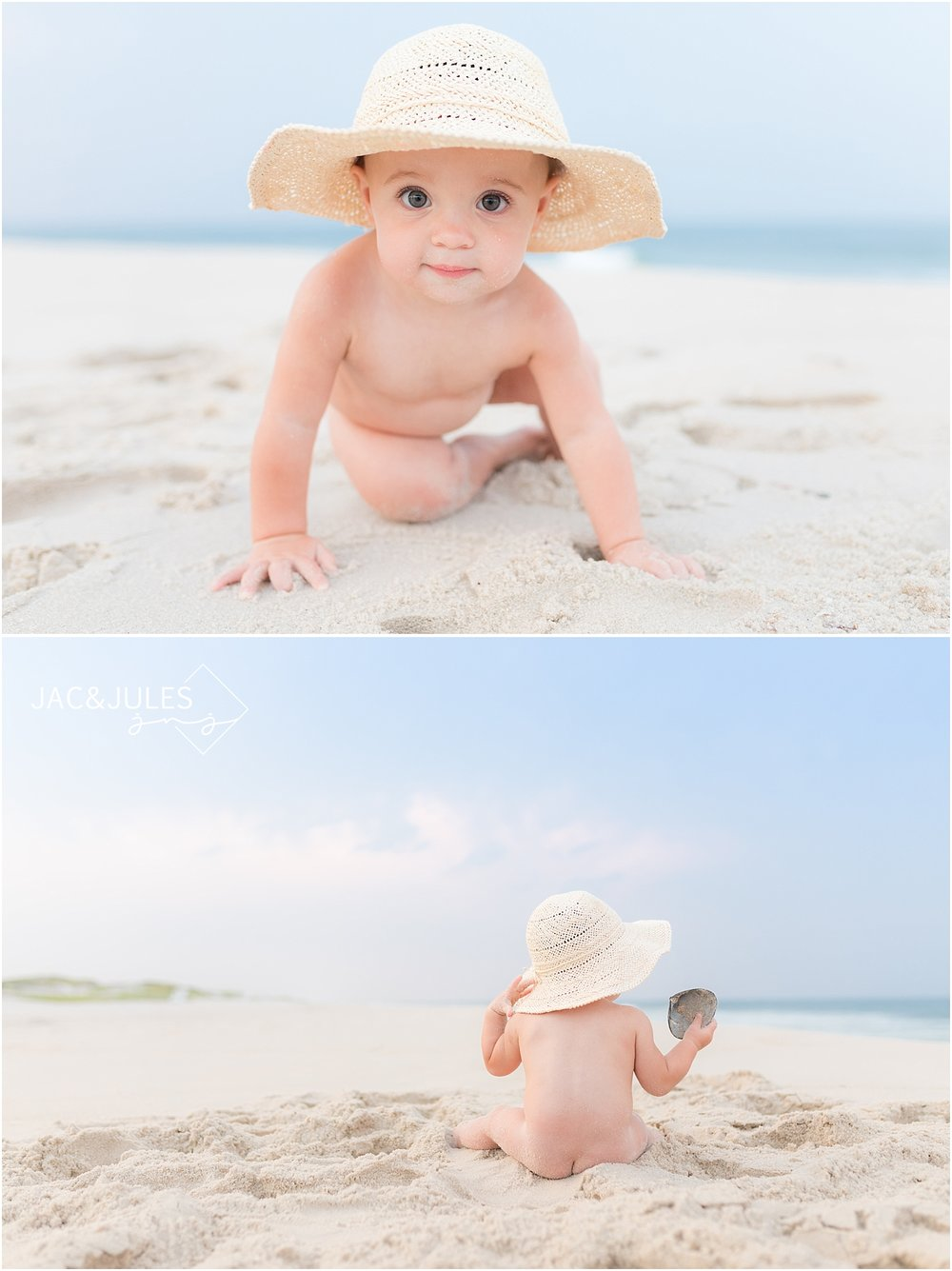 baby girl photos on the beach at the jersey shore