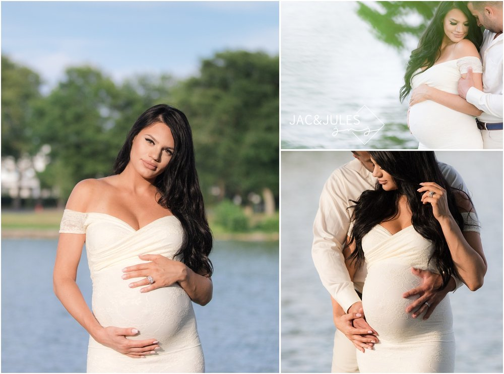 Smoking hot maternity photos of mom-to-be in Spring Lake, NJ.