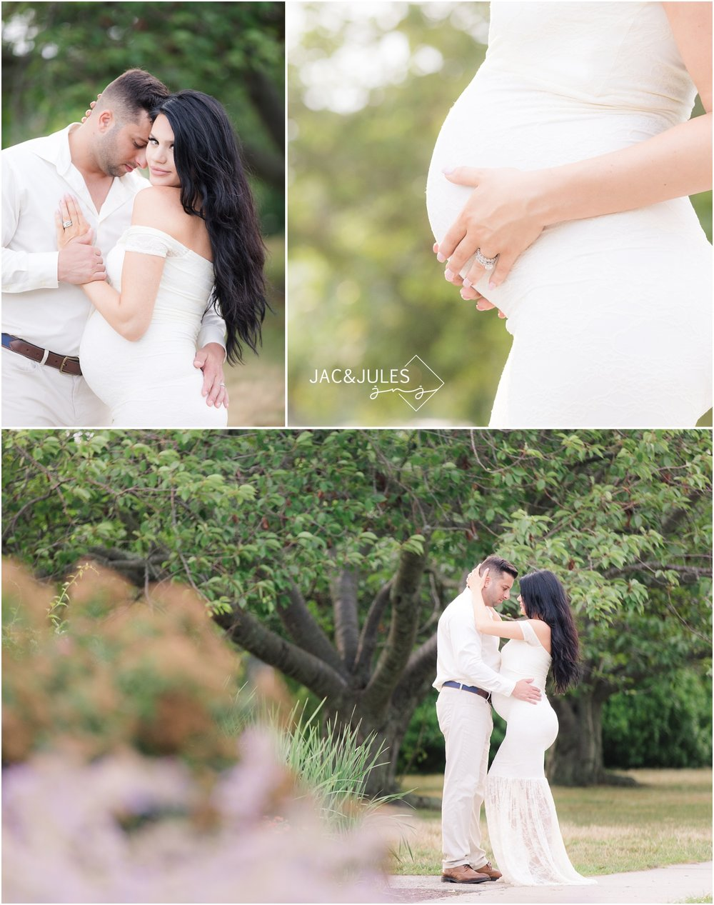 Intimate Pretty maternity photos of expectant couple in Spring Lake, NJ
