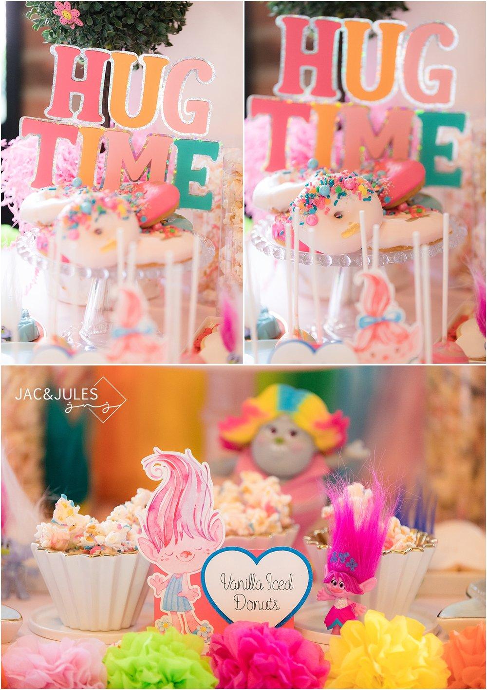 trolls themed dessert table