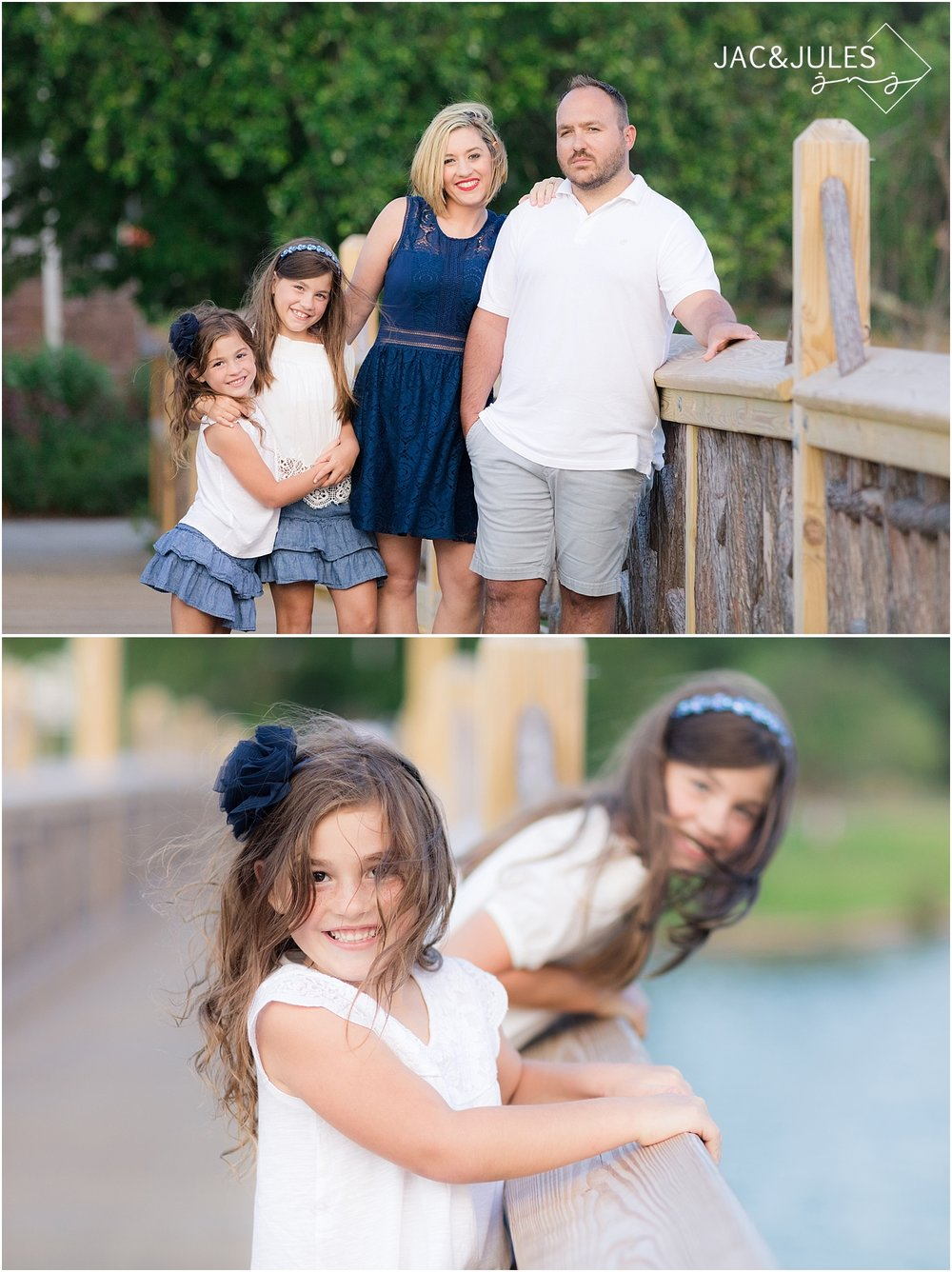 family photos on the bridge in spring lake nj