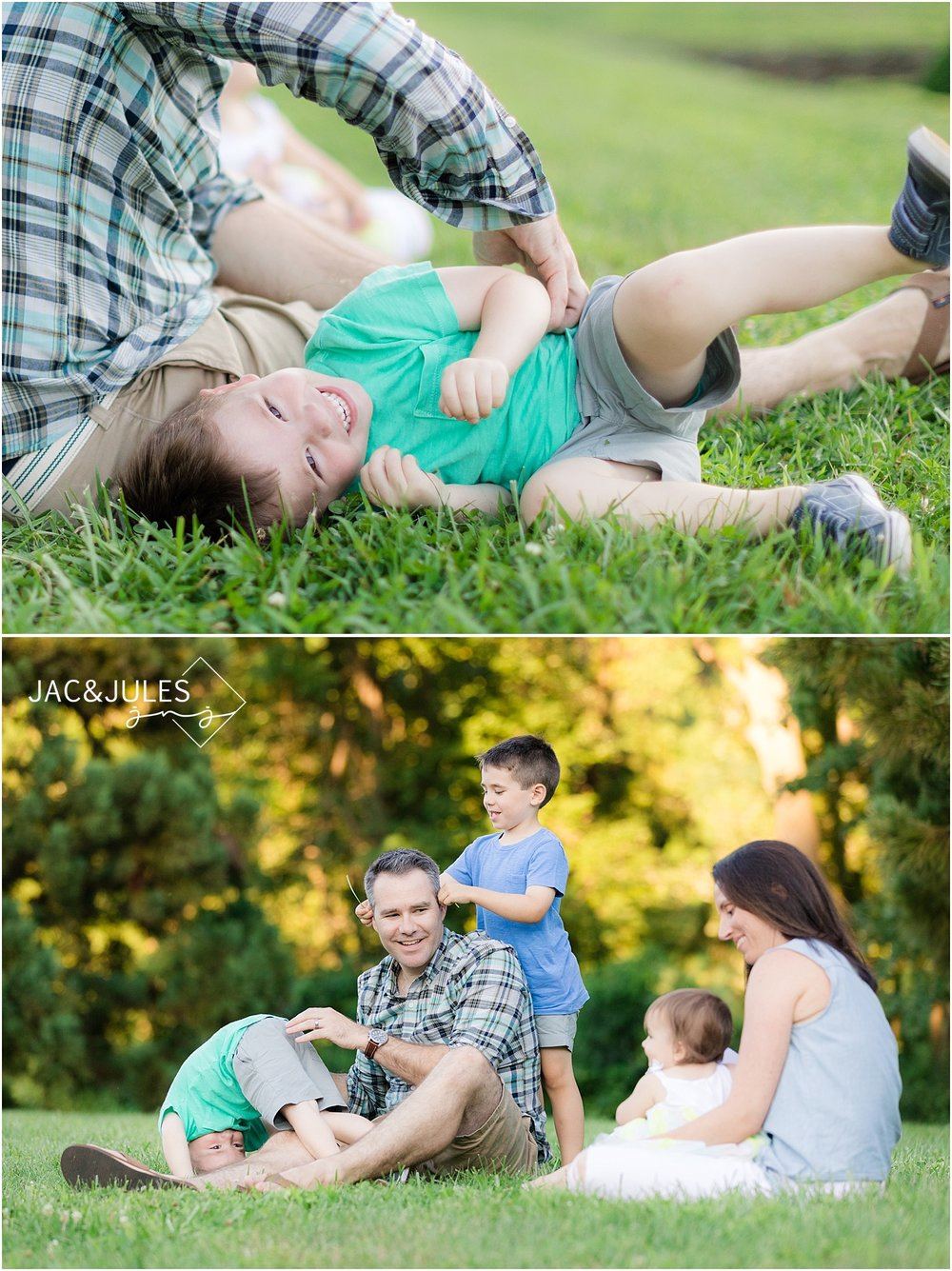 natural candid family photos at deep cut gardens in nj