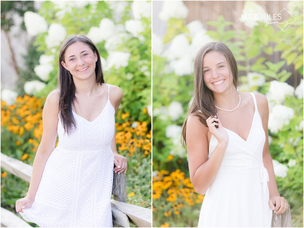 High school senior portraits on the beach in LBI