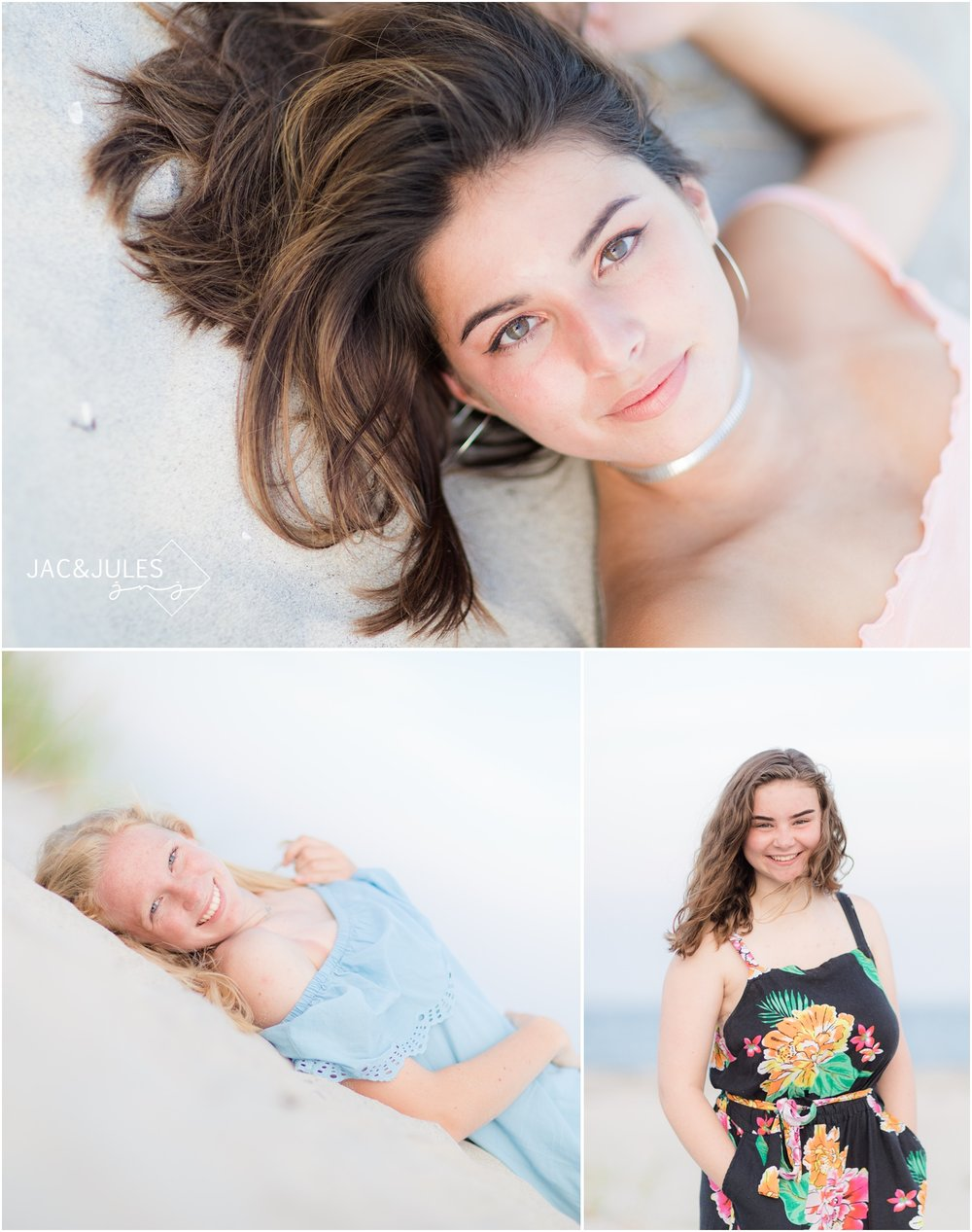 awesome senior portraits at the beach in LBI