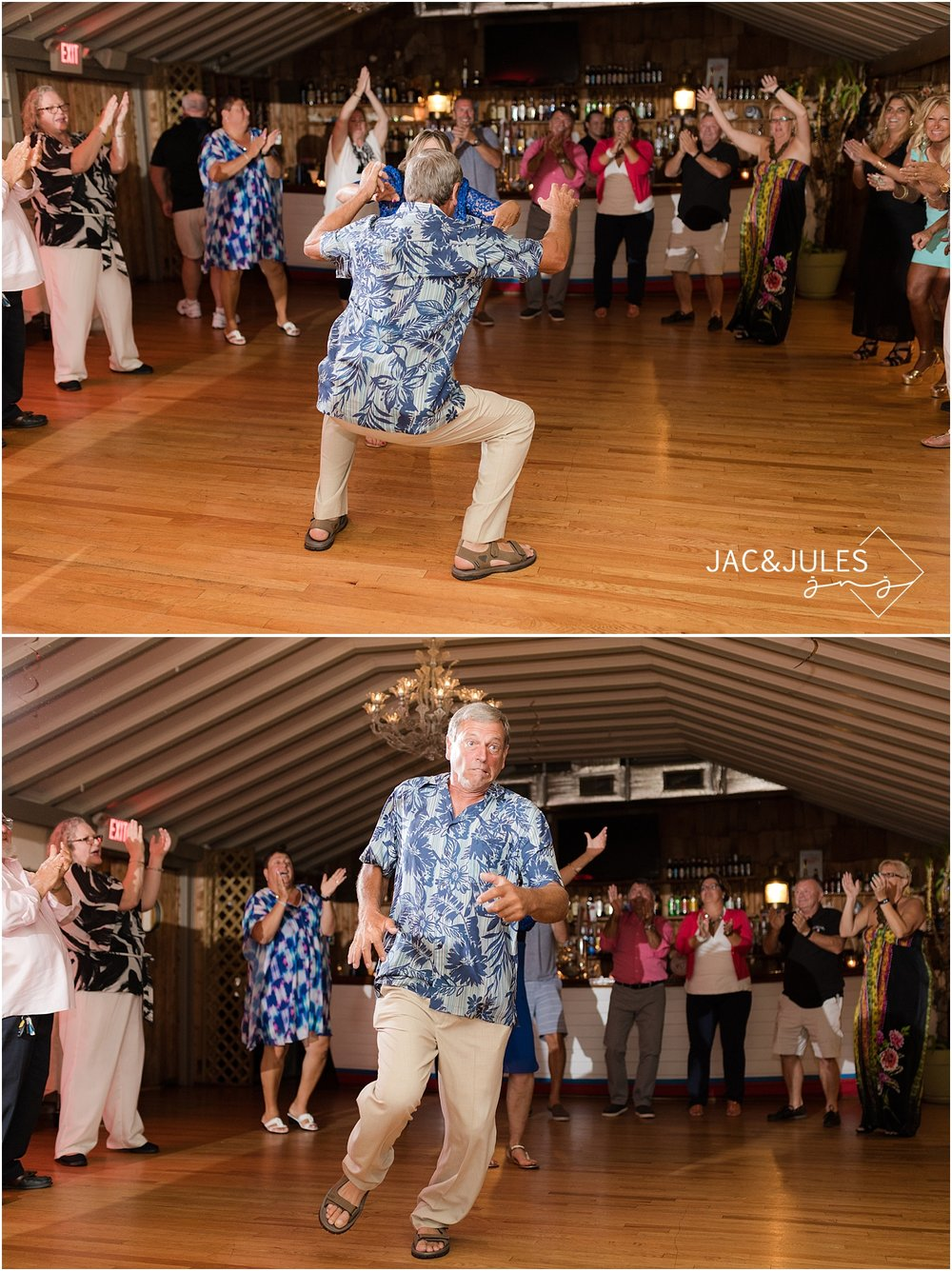 fun wedding reception at captains inn in forked river nj