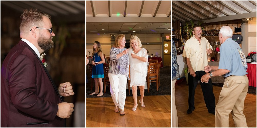 fun wedding at captains inn in forked river nj