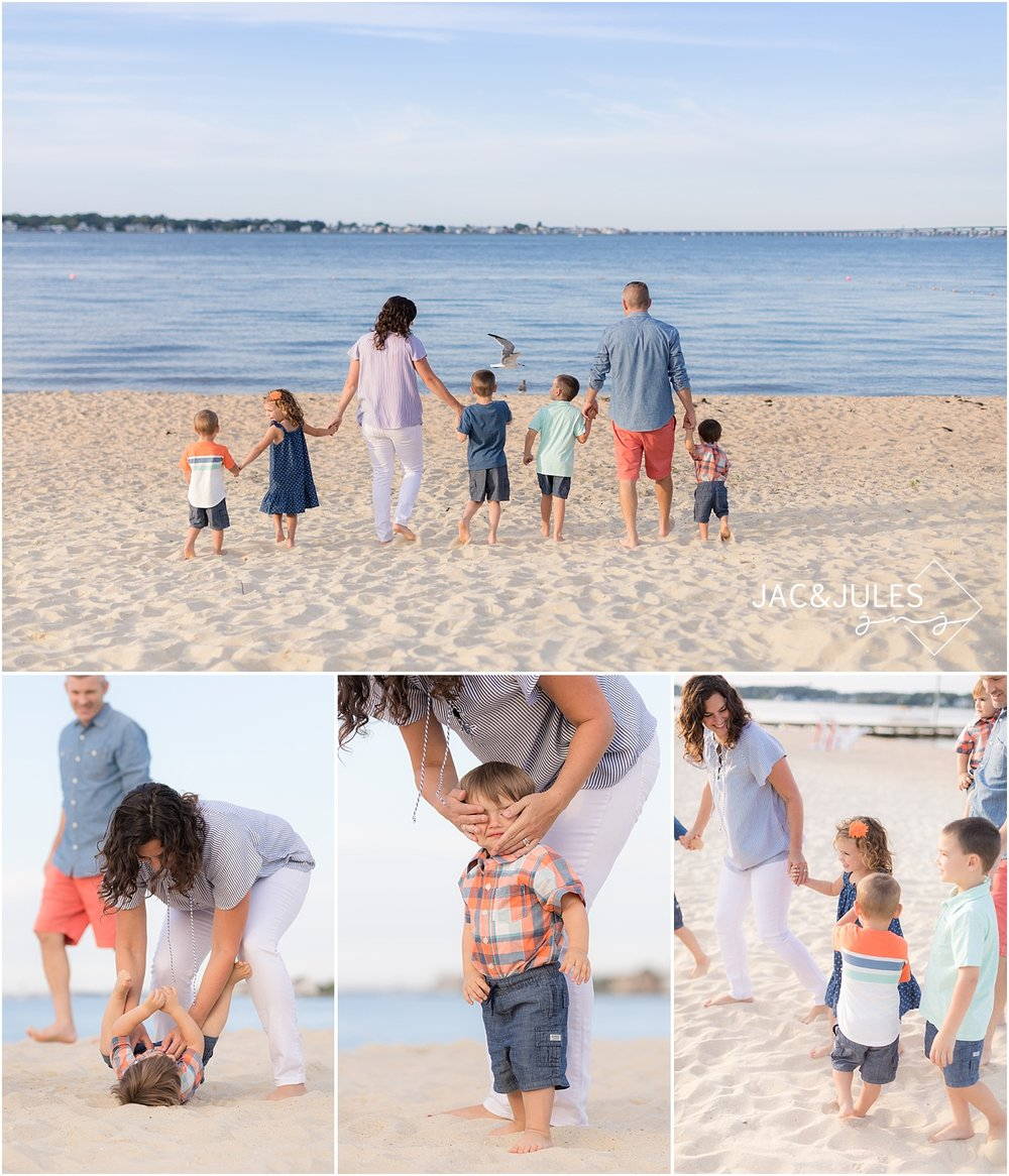 natural family photos on the bay in ocean gate nj