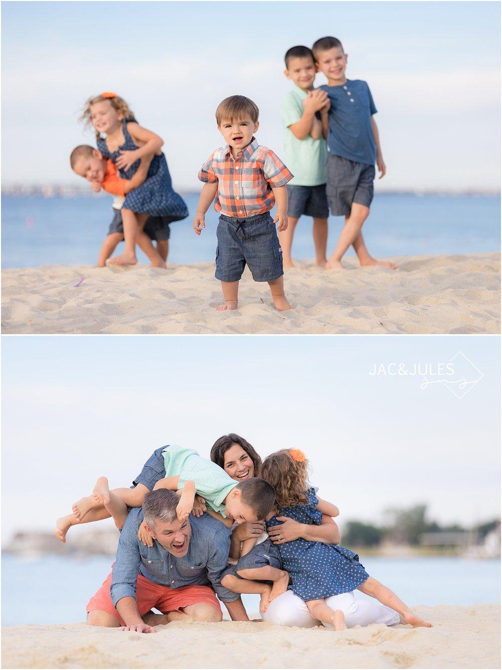 natural light family portraits in ocean gate nj