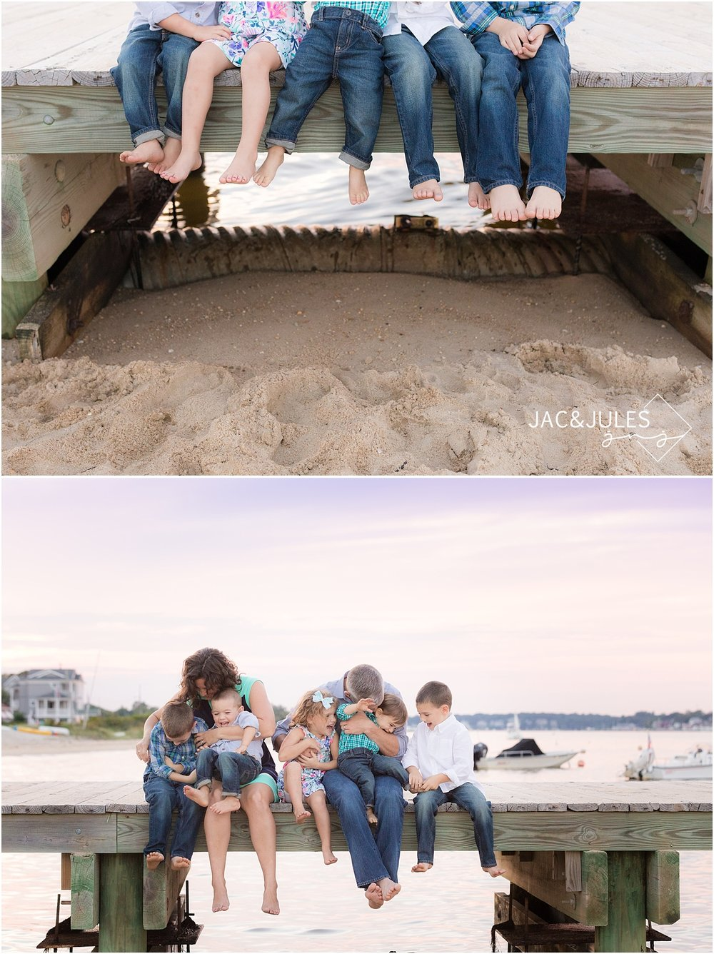natural candid family photos in ocean gate nj