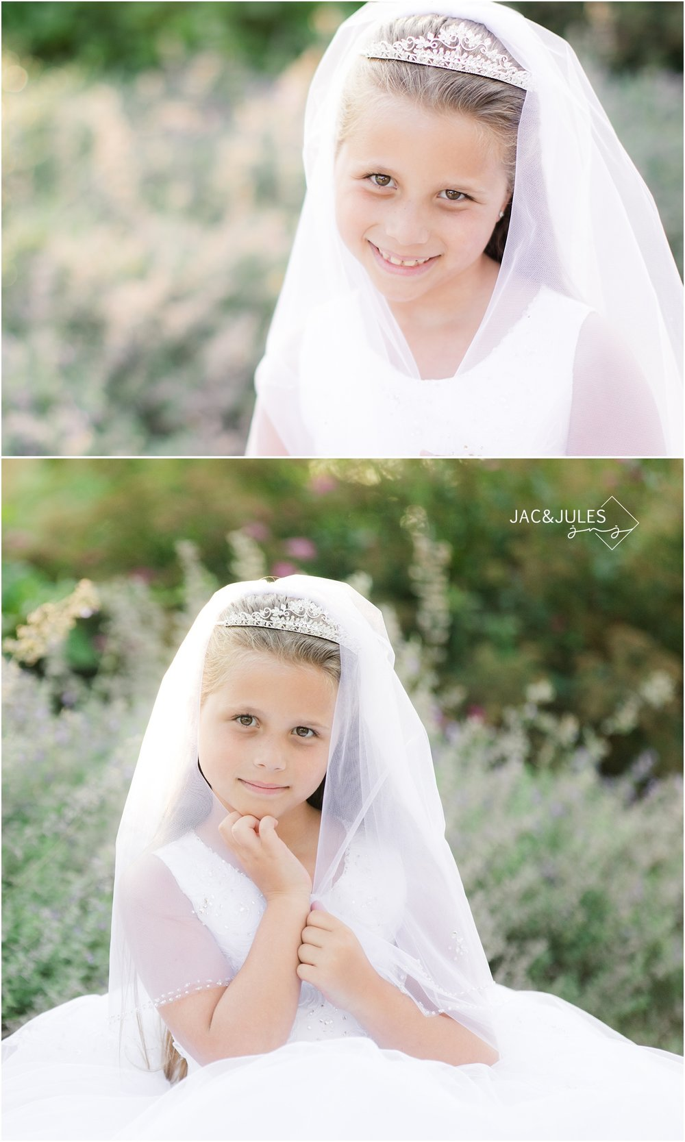 pretty outdoor communion portraits in Spring Lake, NJ.