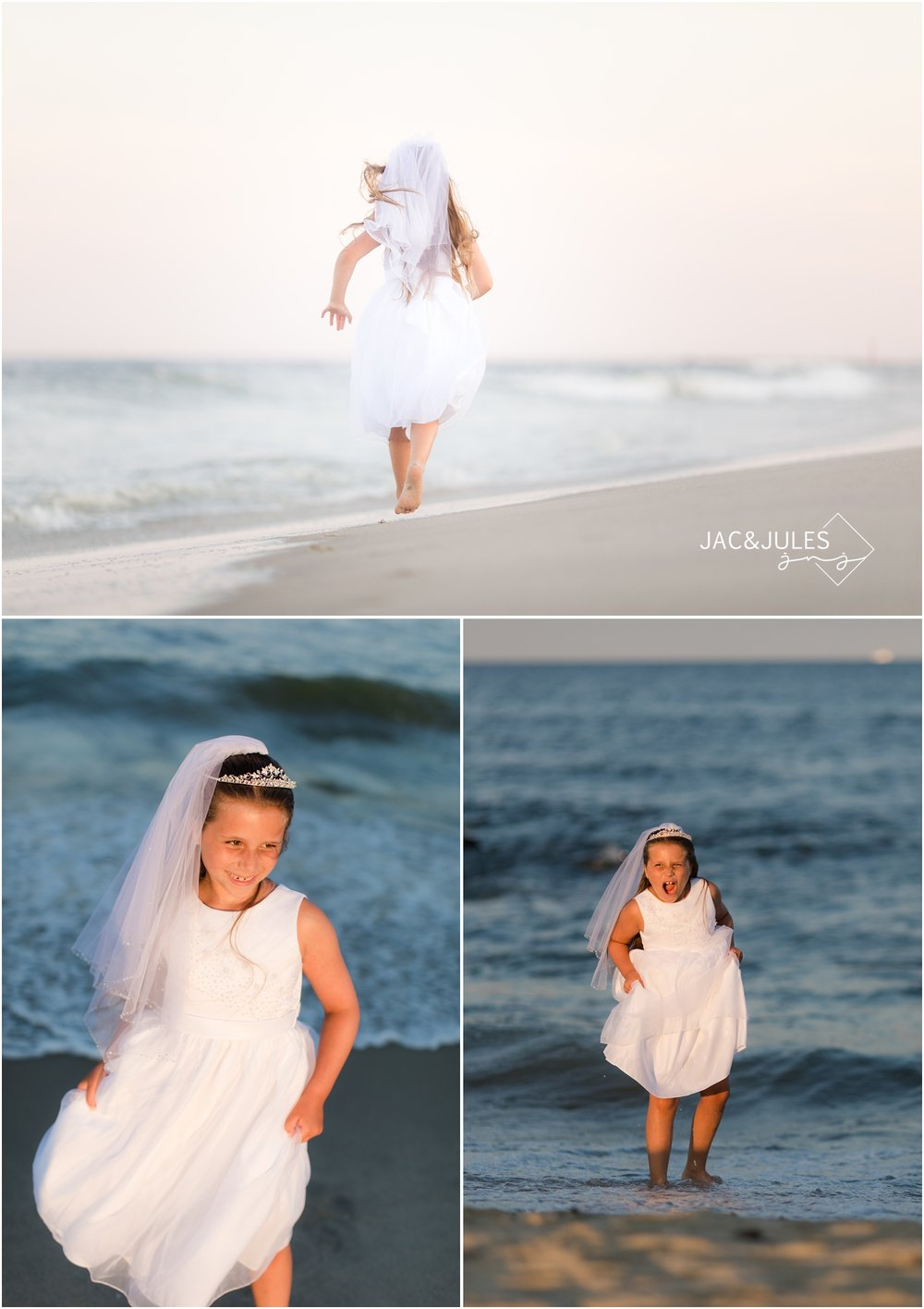 Communion photos on the beach in Spring Lake, NJ.