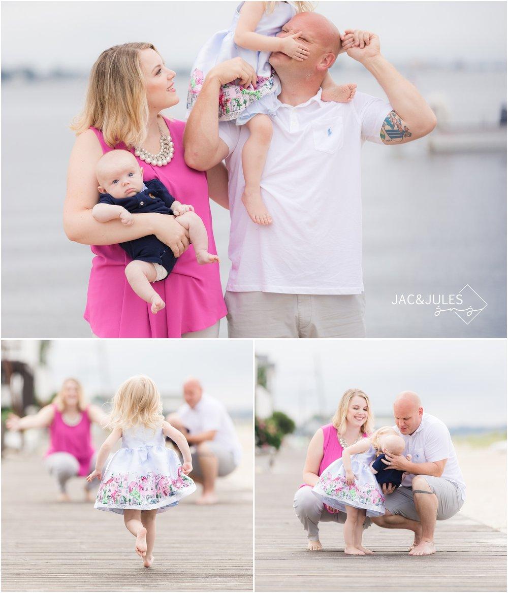 Fun Family photos on the beach in Ocean Gate, NJ.