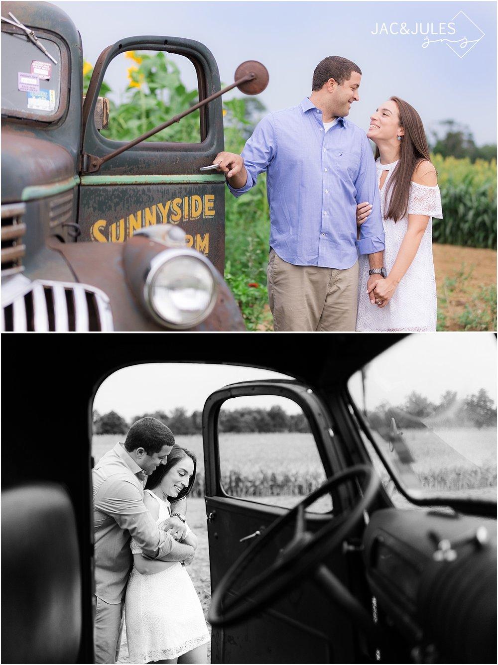 romantic engagement photos at johnsons locust hall farm