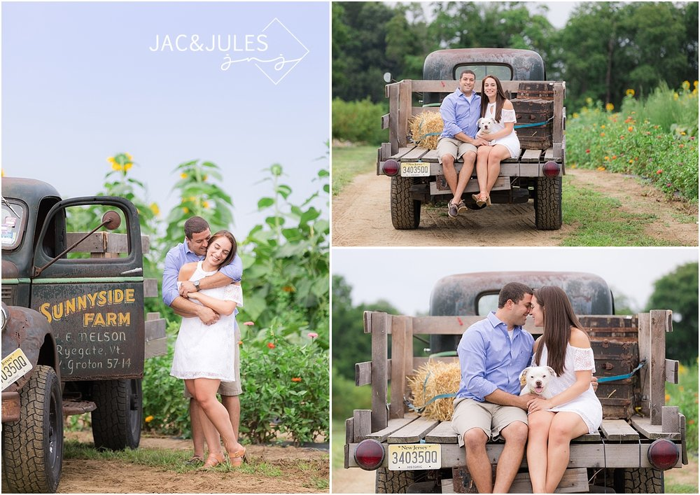 rustic engagement photos on a farm in nj