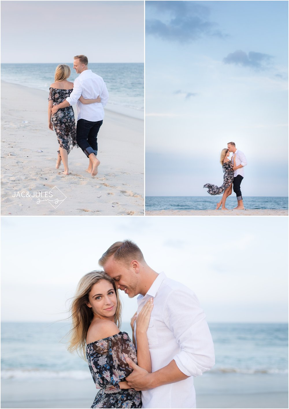 awesome engagement photos on the beach in Seaside Park, NJ.