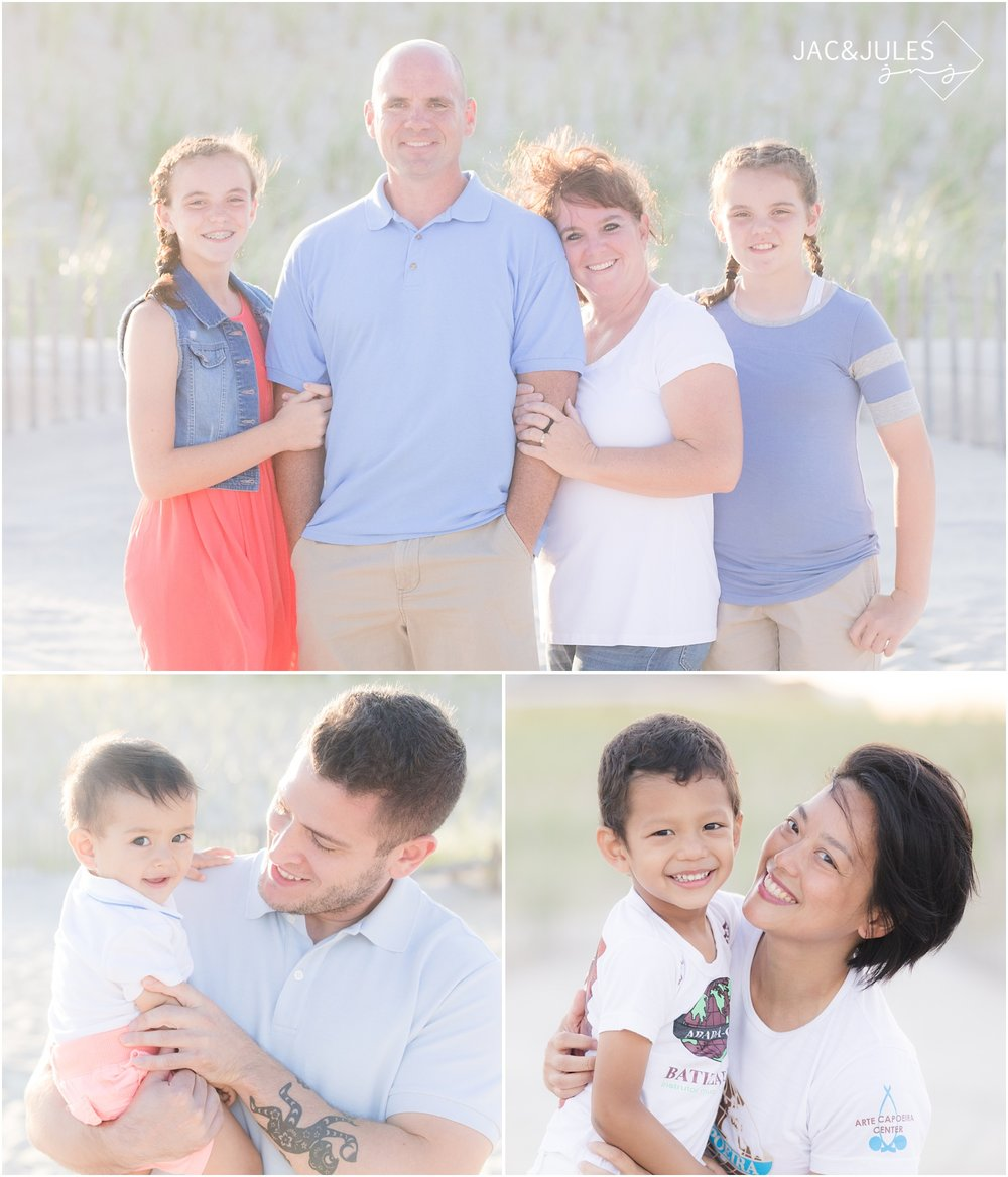 Family photos on the beach in LBI