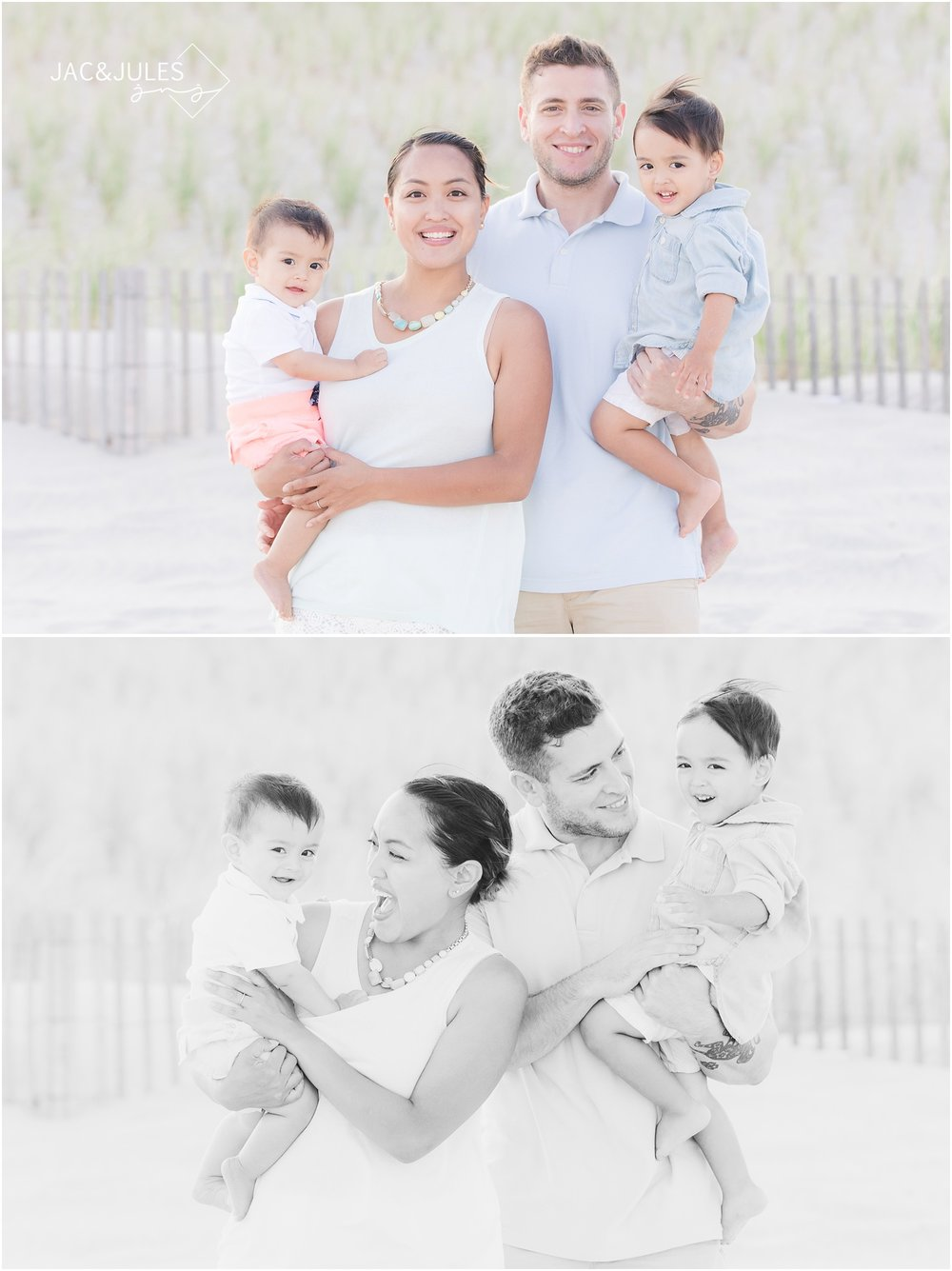 Pretty Family photos on the beach in LBI