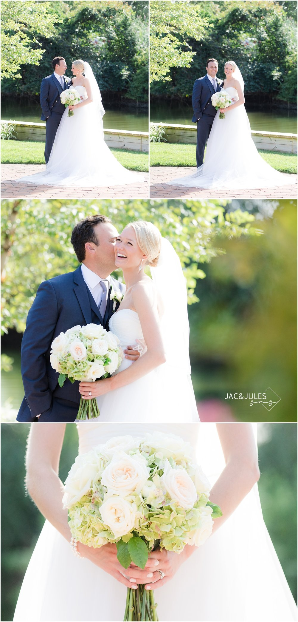 Romantic Bride and groom photos at All Saints Church in Bay Head, NJ.
