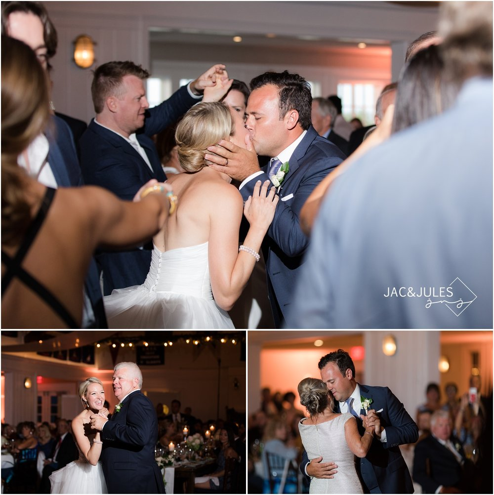 Parent dances during wedding reception at Bay Head Yacht Club.