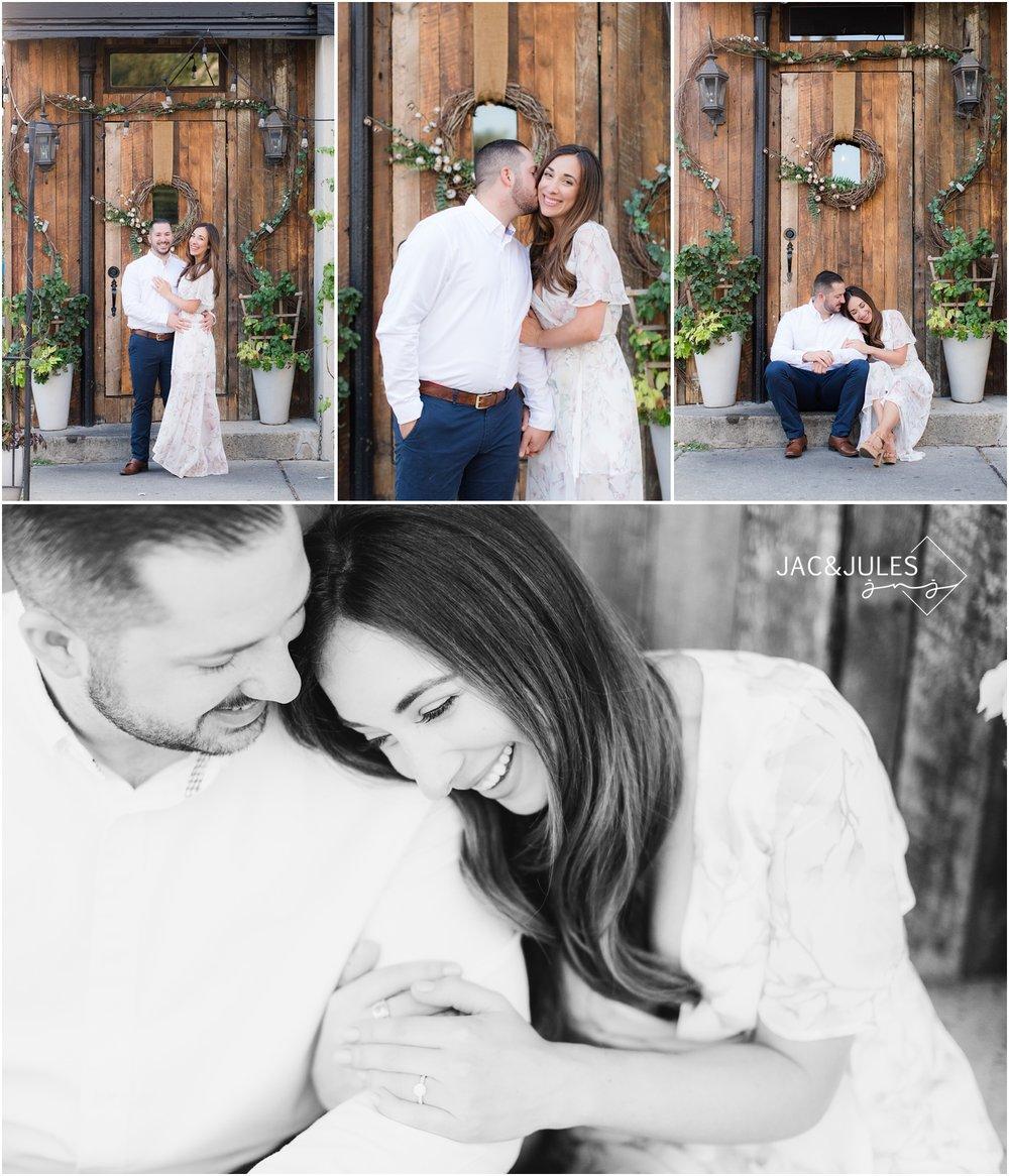 Sweet Engagement photos at Grand Vin in Hoboken, NJ.