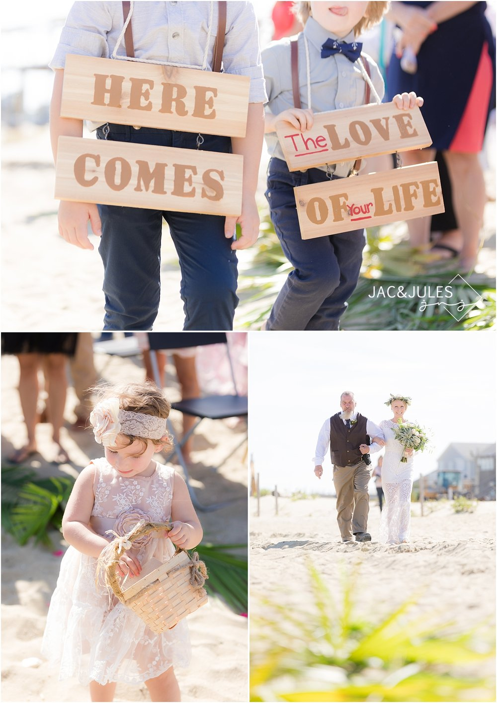 Sea Girt Beach Wedding Ceremony Photo by jacnjules