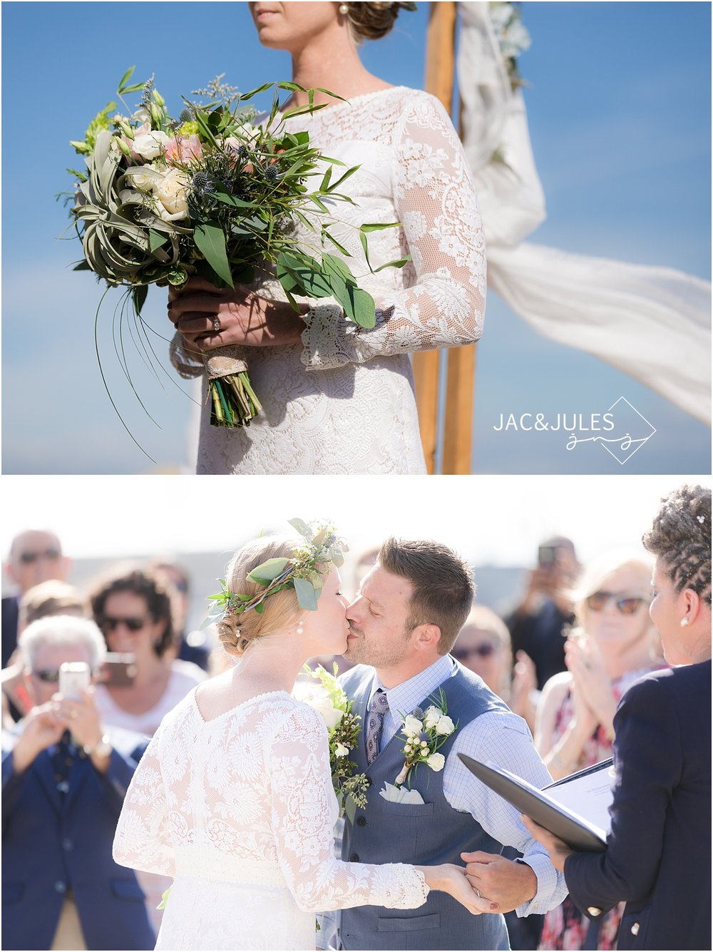 Romantic Wedding Ceremony on Sea Girt Beach NJ