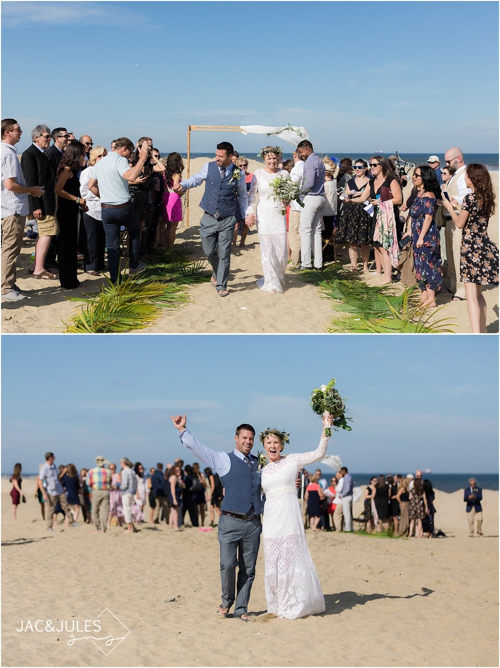 Trendy Beach Wedding in Sea Girt NJ