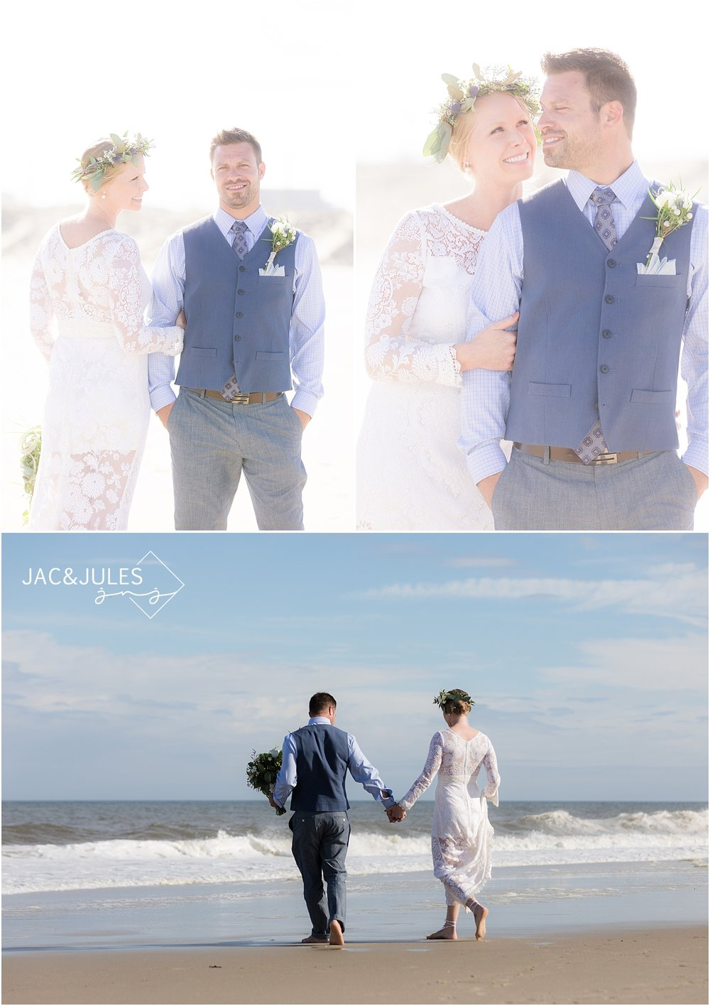 romantic wedding photos in sea girt nj