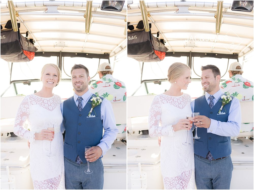wedding photos on a boat in shrewsbury nj