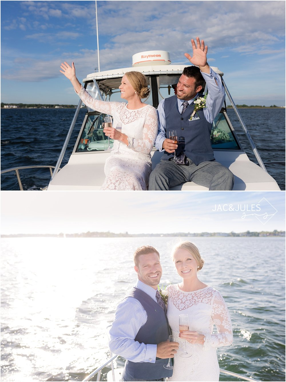 fun boat ride with newlyweds in shrewsbury nj
