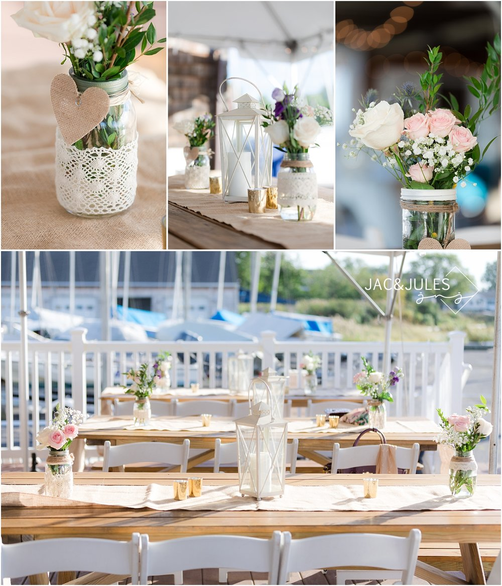 Rustic and Romantic wedding details for a summer wedding