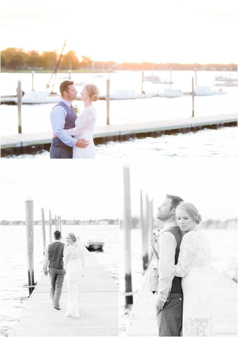 romantic sunset photos for a summer wedding at the jersey shore