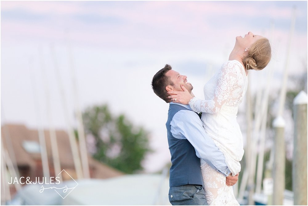 shrewsbury sailing and yacht club wedding photo
