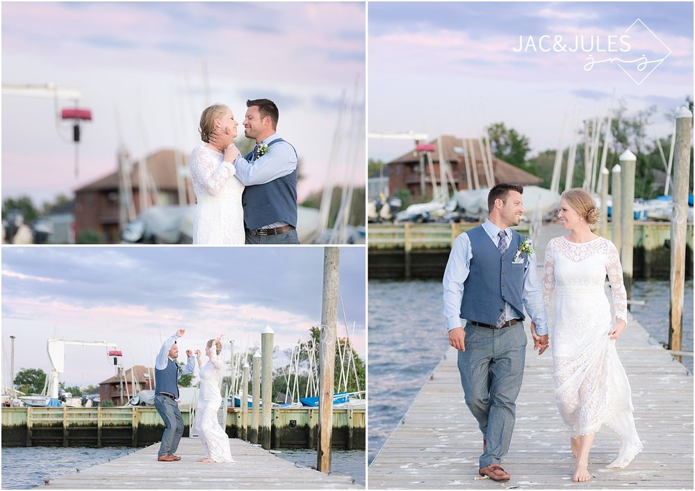 romantic wedding photos at shrewsbury sailing and yacht club