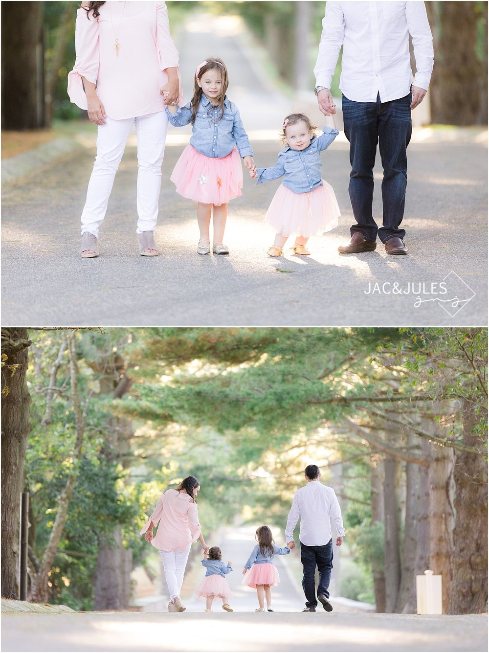 light and airy family photo at ashford estate wedding venue