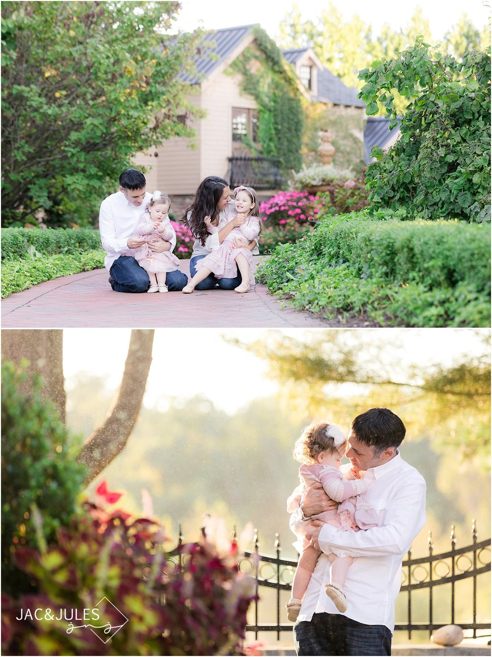 candid family photo in allentown nj with natural light