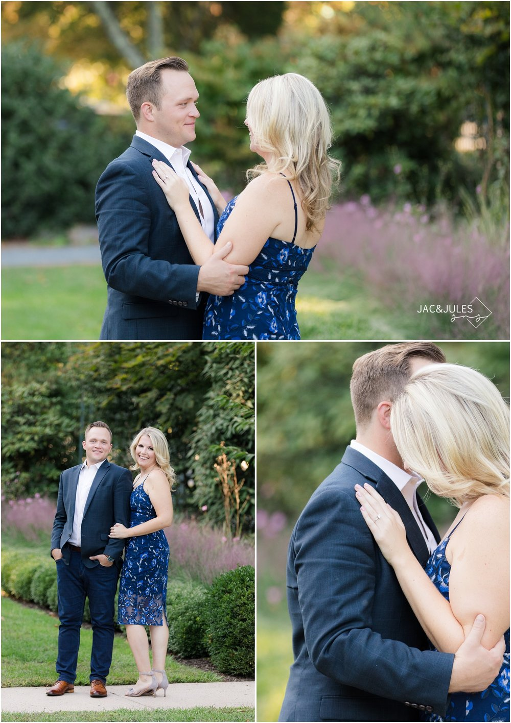 Classy Engagement photos at Van Vleck House and Gardens in Montclair, NJ.
