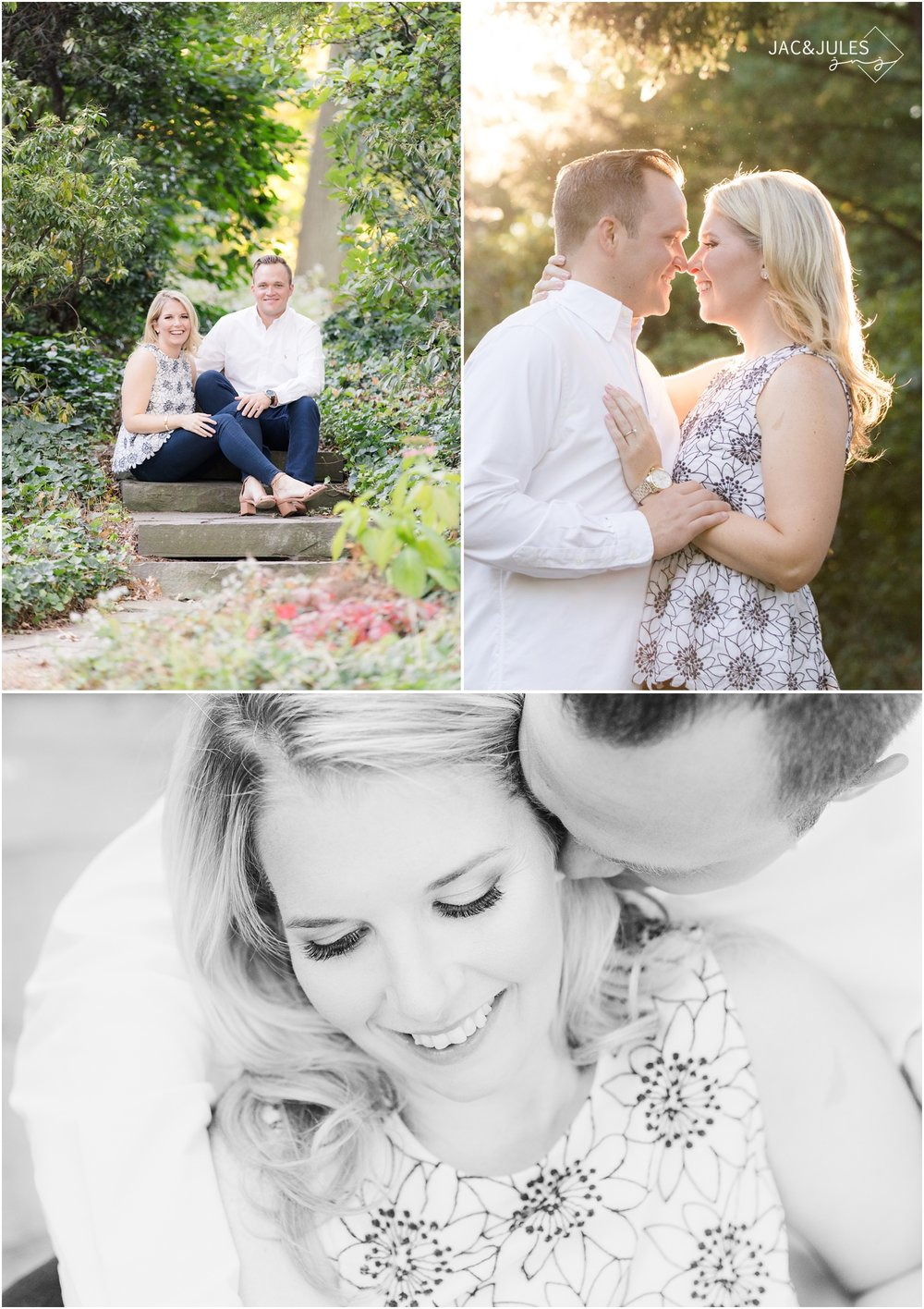 Romantic Engagement photos at Van Vleck House and Gardens in Montclair, NJ.