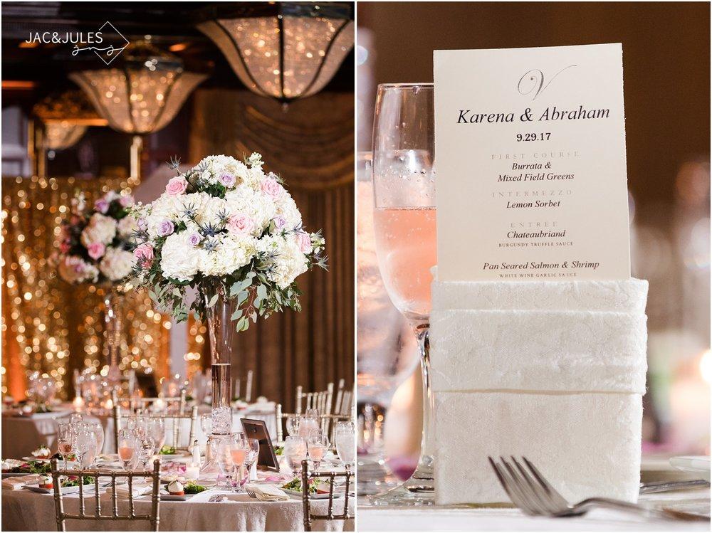 Wedding Reception room decor photos at The Shadowbrook in Shrewsbury, NJ.