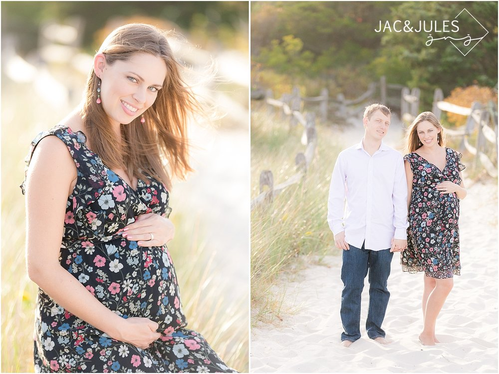 jacnjules photographs maternity on the beach in new jersey