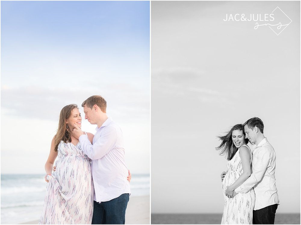 nj maternity photo on the beach