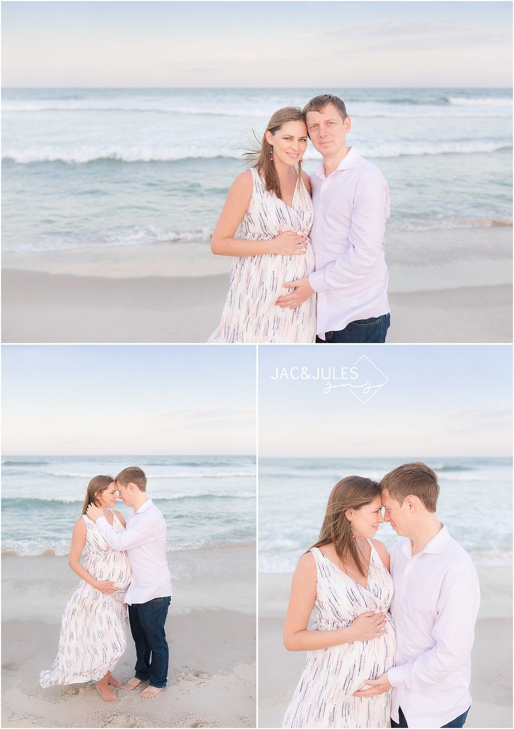 gorgeous maternity pictures on the beach in NJ