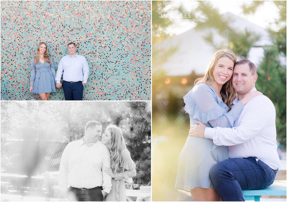 Engagement photos at Porta in Asbury Park, NJ