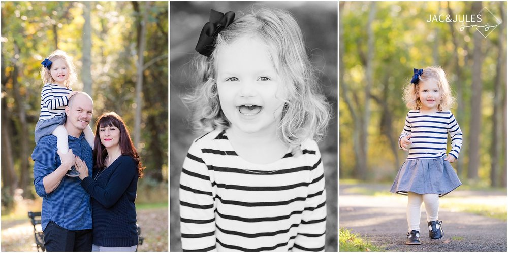 Fall family photos full of personality at Allaire State Park in Wall, NJ.