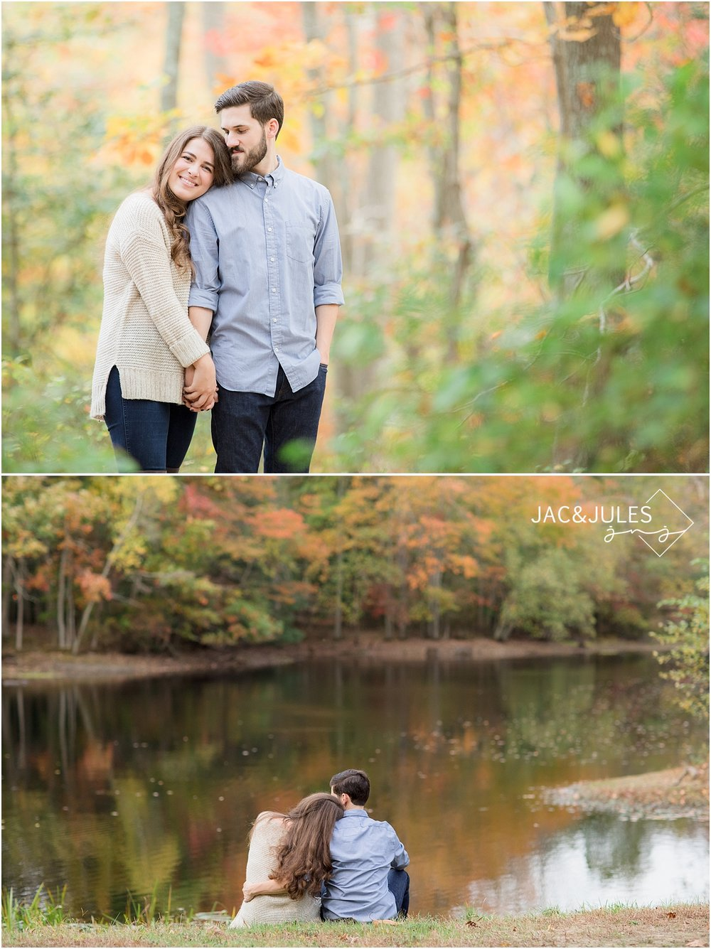 natural light engagement photos at allaire