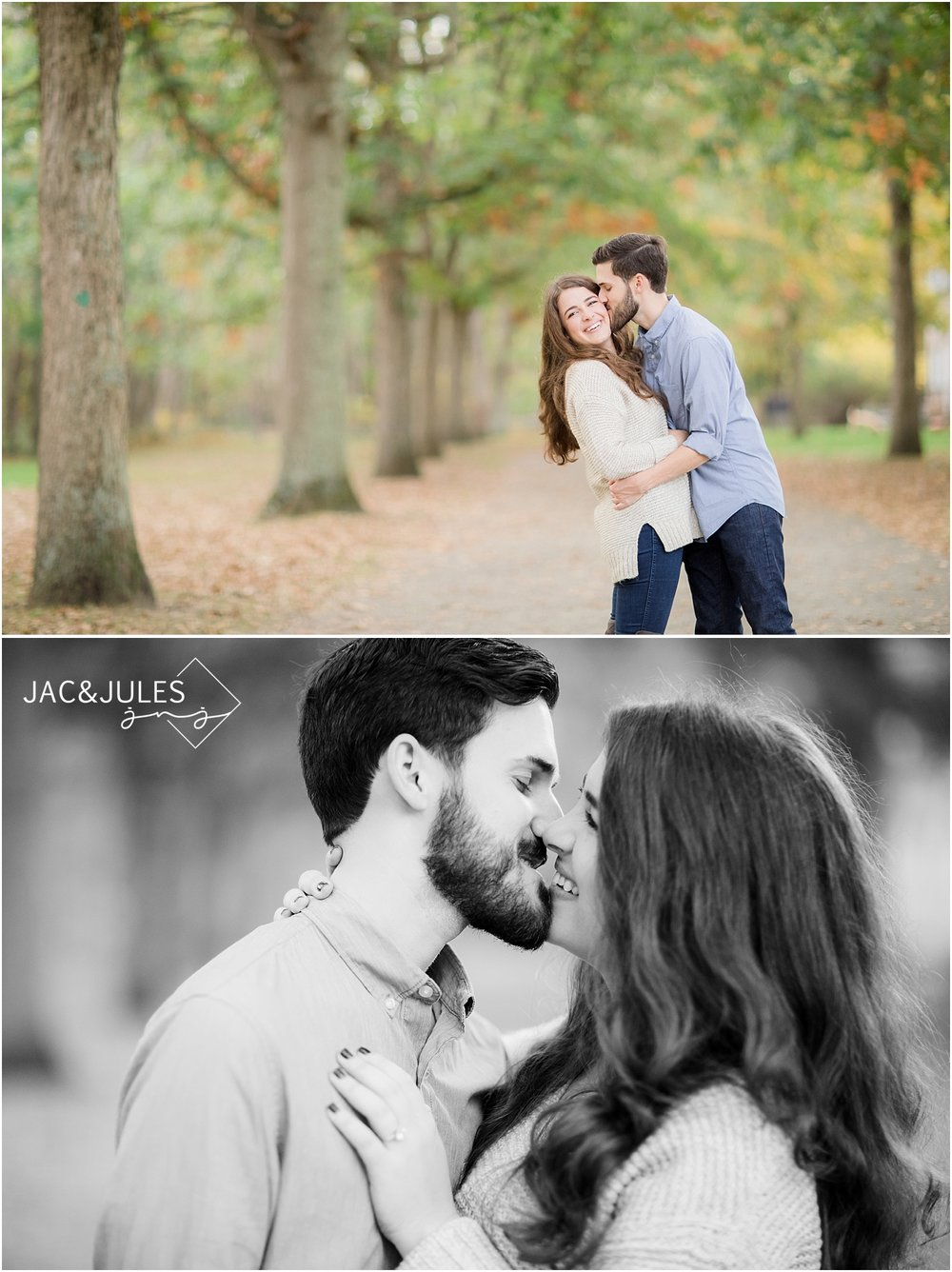 allaire engagement pictures in the fall